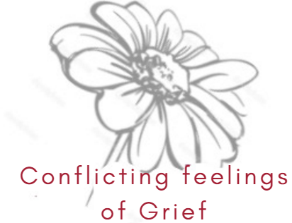 conflicting feelings of grief