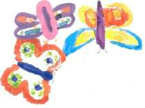 Butterflies 1 white